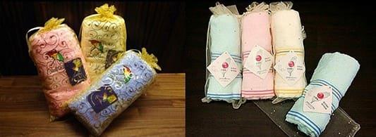 包裝成答紙禮的毛巾